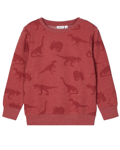 name it sweater dino 13185023 Brick Red bordeaux