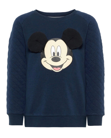 nameit sweater mickey mouse blauw 13167469