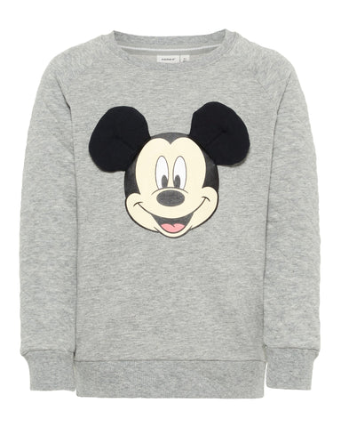 nameit sweater mickey mouse grijs 13167469