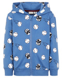 name it sweater rits kap blauw 13169019