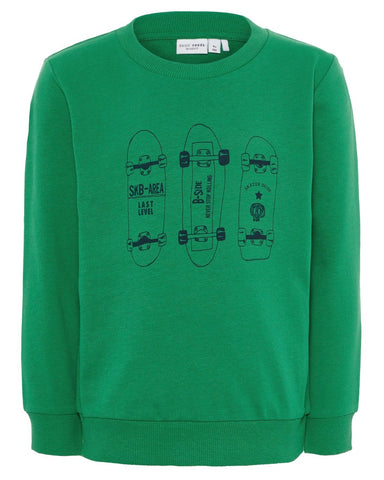 nameit sweater skater groen