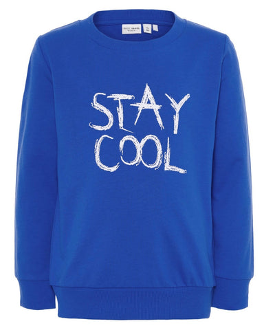 nameit sweater staycool blauw