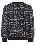 nameit sweater zwart all-overprint rock