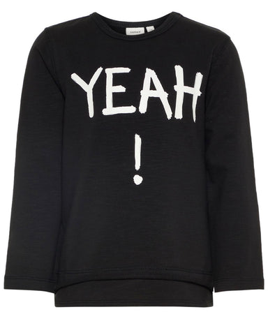 nameit sweater zwart black yeah