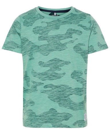 nameit tshirt legerprint groen 13169602