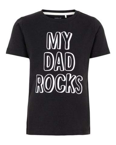 nameit tshirt zwart my dad rocks 13167357