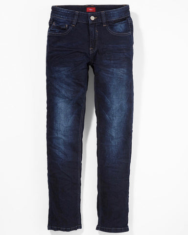 soliver jeans seattle slim verstelbare taille
