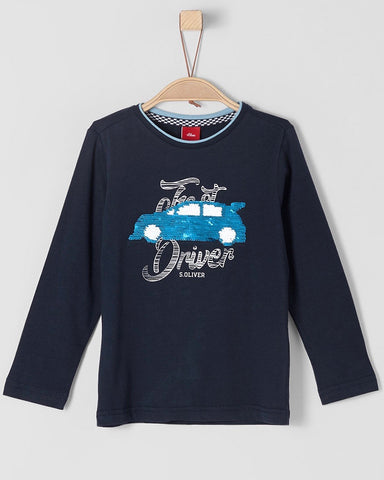 Long sleeve auto - wrijf t-shirt - S.Oliver
