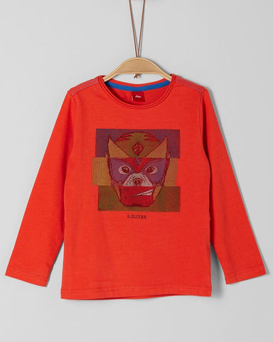 soliver long sleeve rood jongen 63.909.31.8934