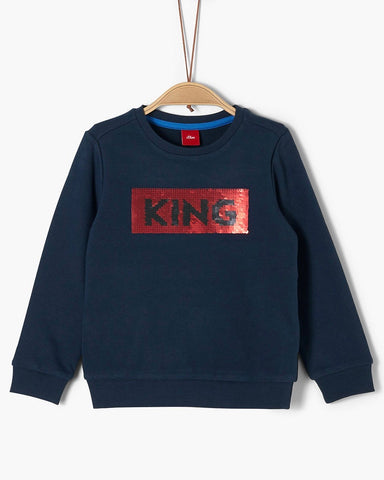 soliver sweater king kong blauw 64.909.41.8866