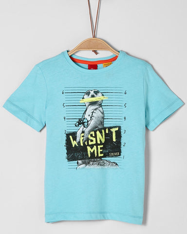 soliver tshirt short sleeve stokstaart turquoise