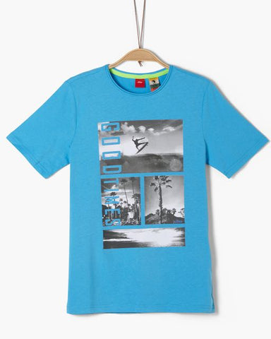 soliver tshirt surf junior turquoise