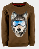 stones and bones long sleeve Tougher WOLF caramel