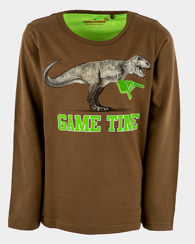 stones and bones long sleeve dino 21856 Skipper GAME TIME khaki