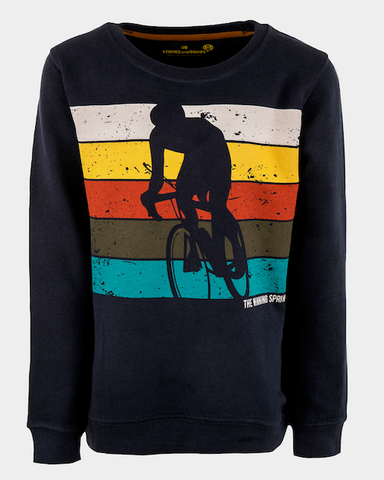 stones and bones sweater blauw fietser Impress SPRINT navy