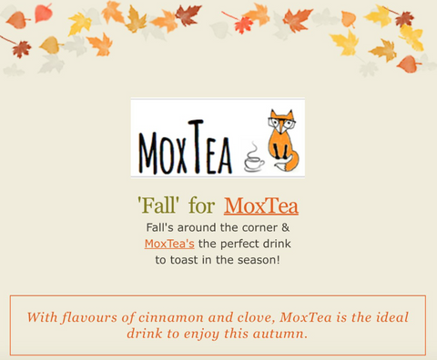 'Fall' for MoxTea! Autumn Newsletter
