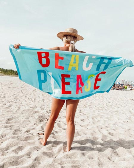 beach please towel and other spring break must-haves