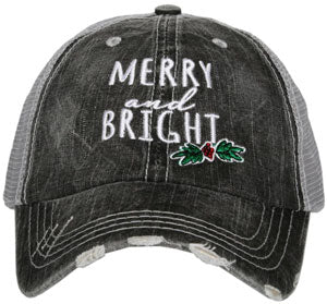 merry and bright women's Christmas hat