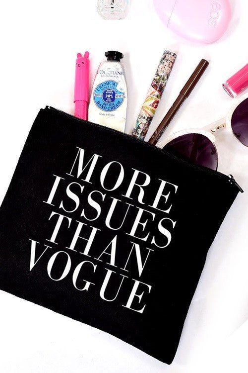 More Issues Than Vogue Makeup or Cosmetic Bag