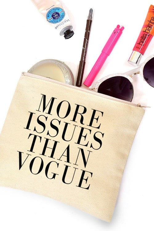 More Issues Than Vogue Makeup or Cosmetic Bag - Katydid.com