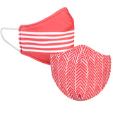 Red and White Reversible Face Mask