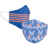 Royal Blue and Orange Reversible Face Mask