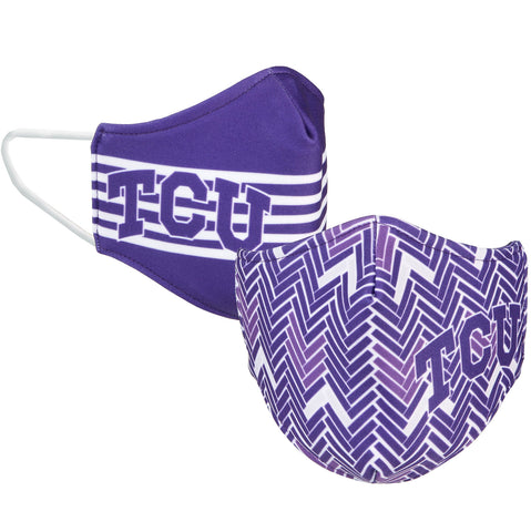 Purple and White Reversible Face Mask