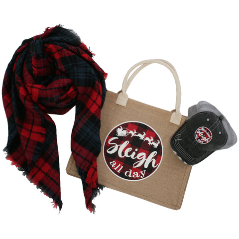 Katydid Rose All Day Bundle (Hat w/  FREE Cosmetic Bag)