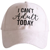 I Can't Adult ULTRA SUEDE Baseball Cap - Katydid.com
