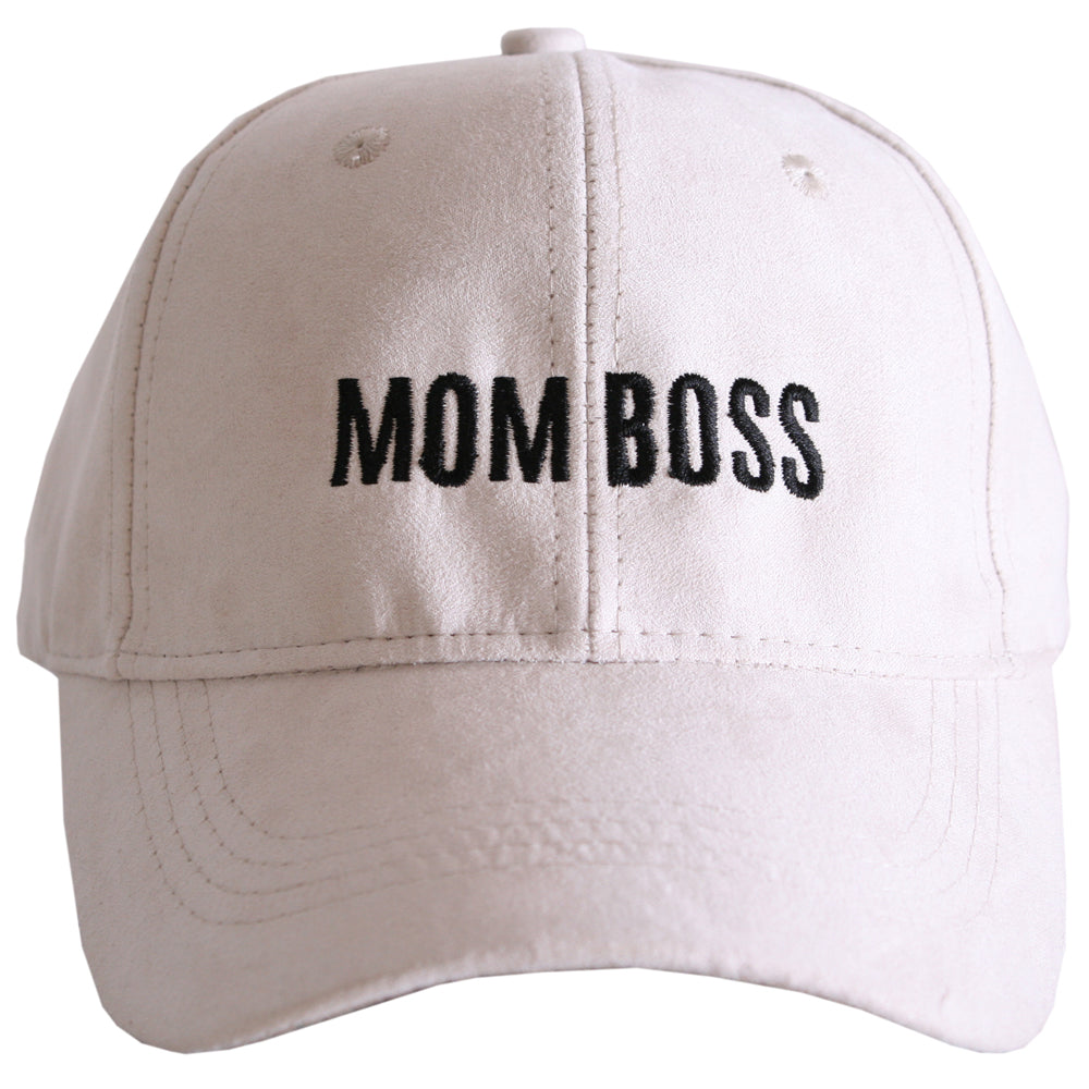Mom Boss ULTRA SUEDE Baseball Cap - Katydid.com