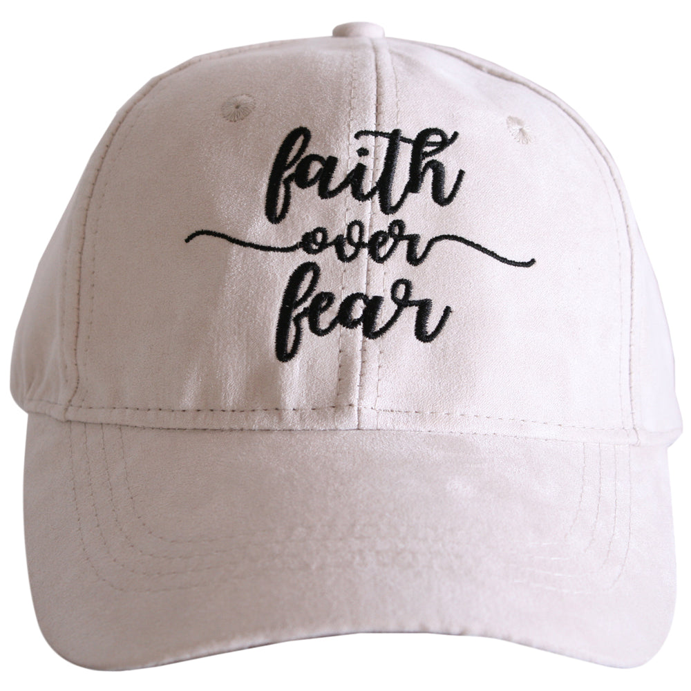 Faith Over Fear ULTRA SUEDE Baseball Cap - Katydid.com