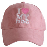 I Love My Dog ULTRA SUEDE Baseball Cap - Katydid.com