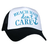 Beach Hair Don't Care Glitter Trucker Hat - Katydid.com