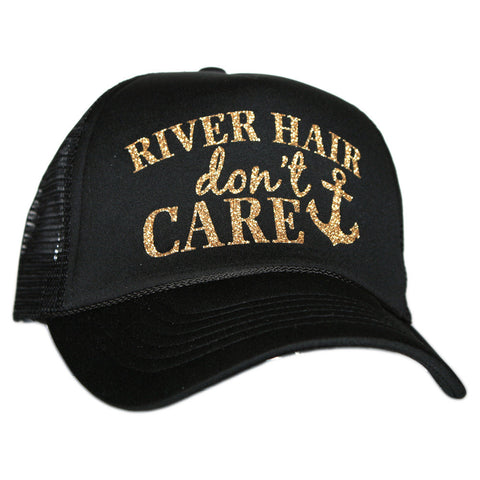 Katydid Black and Gold Hair Don't Care  Trucker Hats
