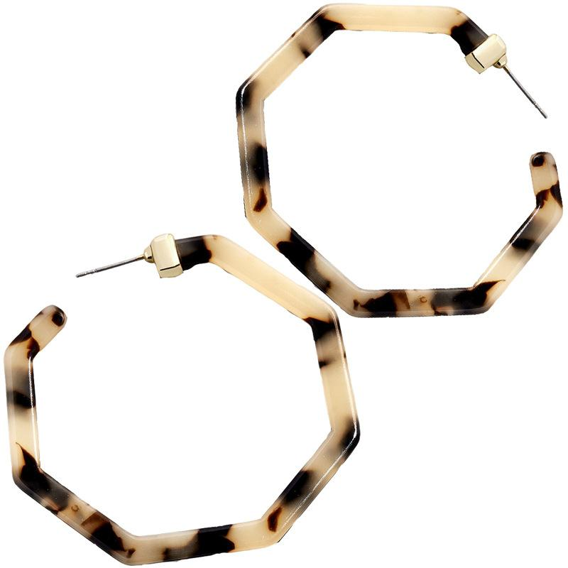 Leopard Large Acrylic Hoop Earrings - Katydid.com