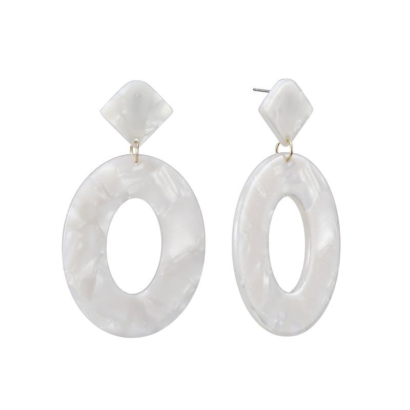 Ivory Acrylic Drop Earrings - Katydid.com