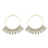 Gray Leather Circle Earrings - Katydid.com