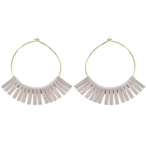 Ivory Acrylic Drop Earrings