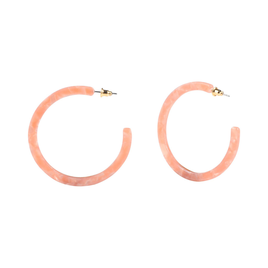 Rose Acrylic Thin Hoop Earrings