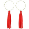 Coral Leather Tassle Earrings - Katydid.com