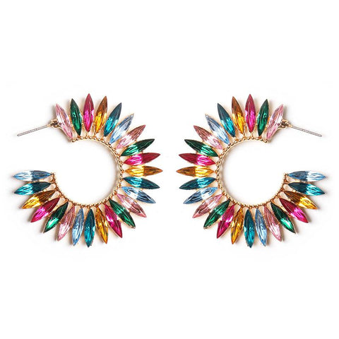 Multicolored Acrylic Drop Earrings