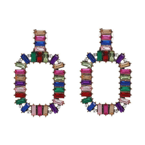 Katydid Multicolor Crystal Earrings