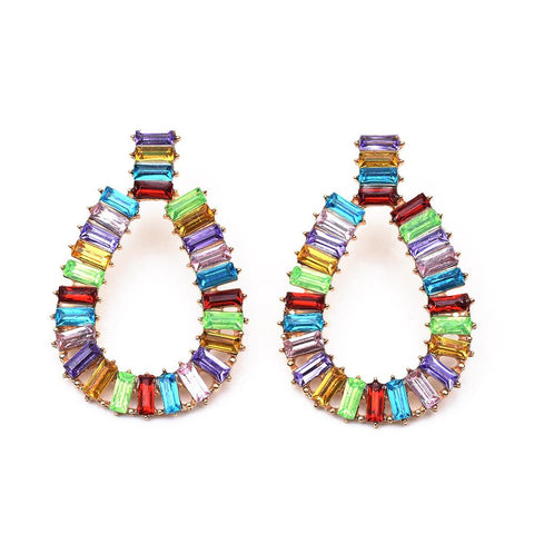 Katydid Multicolor Rectangle Drop Earrings