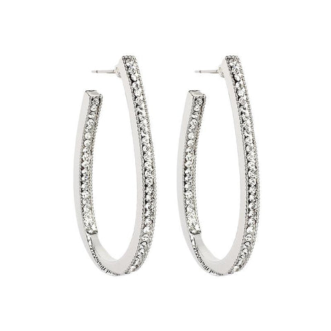 Ivory Acrylic Wave Hoop Earrings