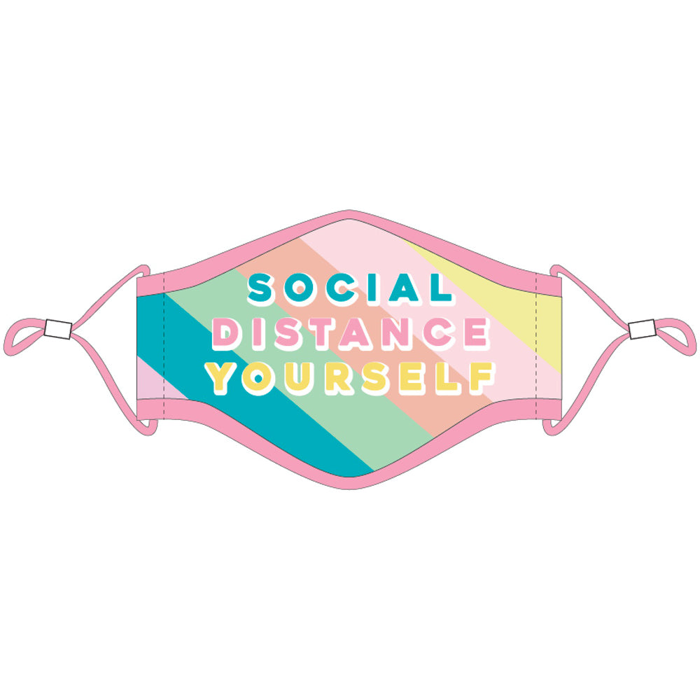 Social Distance Yourself Fashion Face Masks w/ Laynard