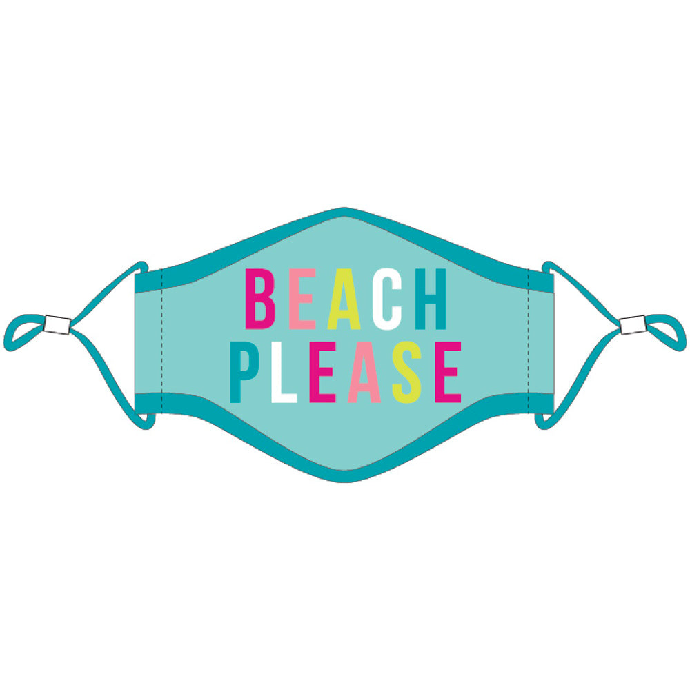 Beach Please Fashion Face Masks w/ Lanyard