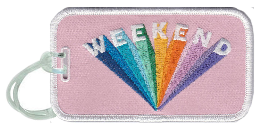 Weekend Rainbow Luggage Tags - Katydid.com