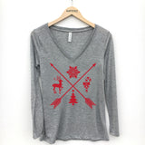 Christmas Arrows Long Sleeve T-Shirt - Katydid.com