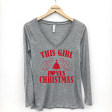 This Girl Loves Christmas Long Sleeve T-Shirt - Katydid.com
