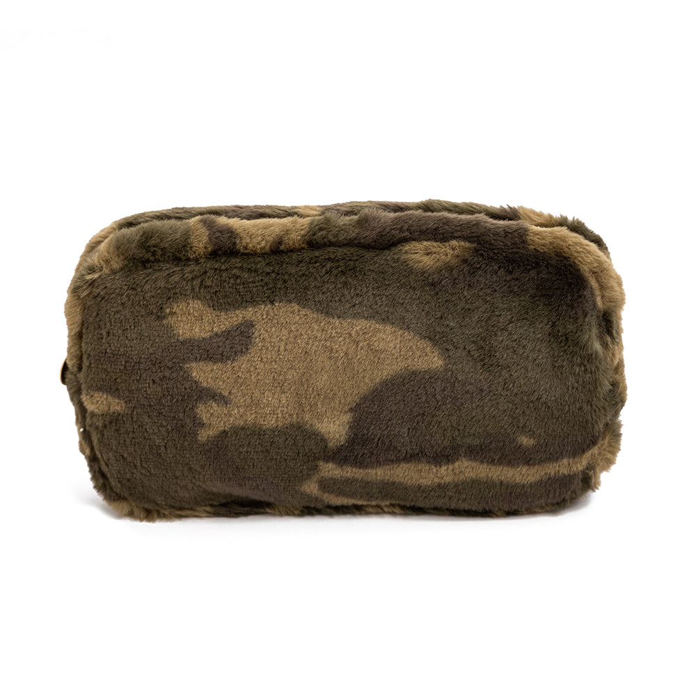 Camo Faux Fur Makeup Bags
